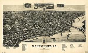 Davenport som det såg ut 1888