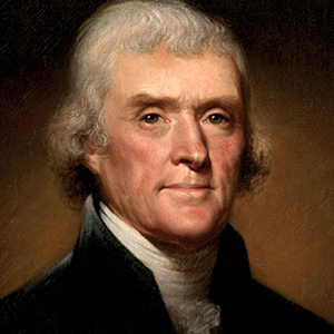 Thomas Jefferson född 13 april 1743, död 4 juli 1826. USA:s president 1801–1809
