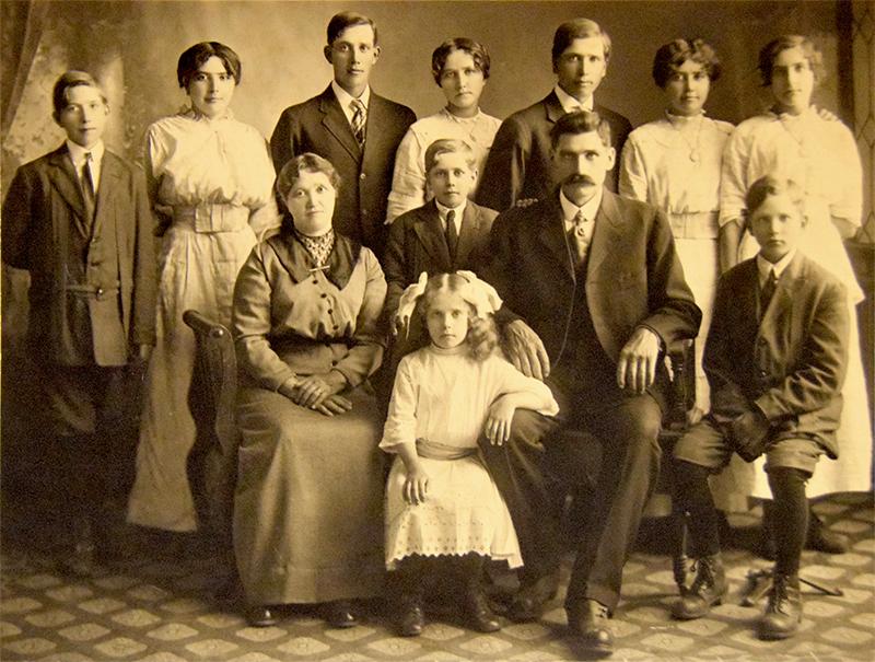 Helge Larson familj